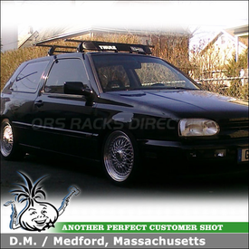 1997 VW GTI Roof Rack and Wind Fairing with Thule 444 VW Car Rack & 871XT Rack Fairing