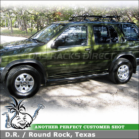 1998 Nissan Pathfinder Bike Roof Rack using Thule 515 Prologue Pack for 2 Bikes on Factory Rack