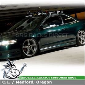 "1999 Honda Accord 2-door Roof Rack using Yakima Q Towers, Q95 Clips, Q Stretch Kit & 44"" Wind Fairing"