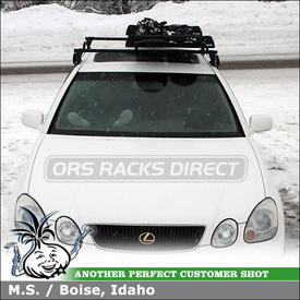 1999 Lexus GS300 Roof Rack Ski-Snowboard Rack using Yakima Q Towers, Q53 & Q46 Clips & Thule 91725b
