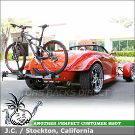 "1999 Plymouth Prowler Bike Rack with Thule 917XTR T2 Hitch Bike Rack for 1-1/4"" Hitches"
