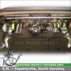 2000 Ford Expedition Fishing Rod Rack and Factory Rack Kayak Carriers using Inno ZR353 Fishing Rods Holder & Malone AutoLoader J-Cradles