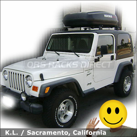 2000 Jeep Wrangler Hard Top Roof Rack Cargo Box with Yakima Control Tower System & RocketBox 15