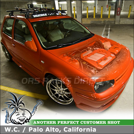 "2000 VW GTI Car Rack Bike Racks System using Yakima Q Towers, Q103 & Q34 Clips, 44"" Wind Fairing & SteelHead"