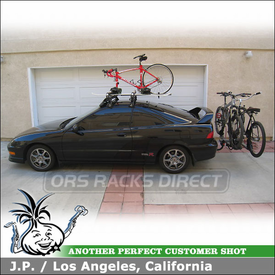 2001 Acura Integra Roof Rack with Bike and Snowboard Carriers using Thule 409 System, 91725, 518 & Yakima HoldUp