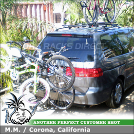 2001 Honda Odyssey Hitch Bike Rack & Roof Rack using Yakima BigHorn 4 and Yakima RailGrab Towers