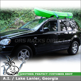 2001 Mercedes ML Roof Rack for Kayak with Thule 884 Roll Model