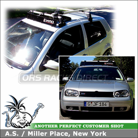 2001 VW GTI OEM Roof Rack Fairing & Bike Rack using Inno Medium Fairing, Thule 518 Echelon & Xadapt 9 Kit