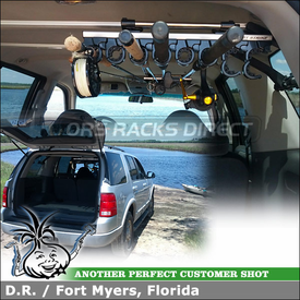 2002 Ford Explorer Window-Mount Fishing Pole Carrier for Inside of Vehicle