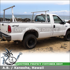 2002 Ford F-250 SuperDuty Truck Rack using Thule-DeWalt 376 Pro Pickup Truckbed Truck Rack