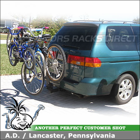 2002 Honda Odyssey Hitch Bike Rack for 4 Bikes with Thule 914XT Roadway