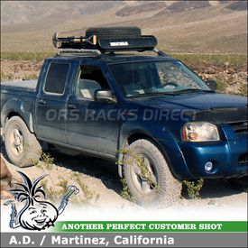 2002 Nissan Frontier Roof Rack Basket using Yakima LoadWarrior Gear Basket & Accessories