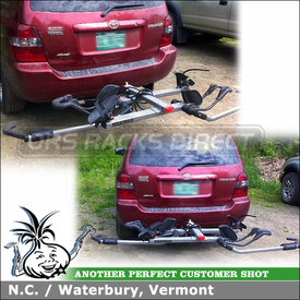 2002 Toyota Highlander Trailer Hitch Mount Bike Rack using Yakima HoldUp Hitch Bike Rack