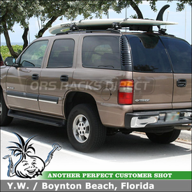 2003 Chevy Tahoe Stand Up Paddle Board Rack using Inno INA444 Locking SUP Rack