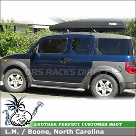 2003 Honda Element Roof Rack and Cargo Carrier with Yakima Control Towers & Thule Luggage Box