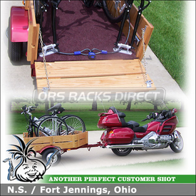 2003 Honda GoldWing Motorcycle Trailer for Bikes using RockyMounts Non-Locking Clutch Bike Racks