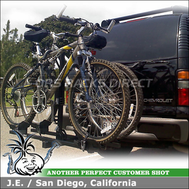 2004 Chevy Tahoe Z71 Hitch Bike Rack using Thule 990XT DoubleTrack 2 Bike Hitch Rack