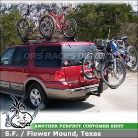 2004 Ford Expedition Bike Roof Rack & 4 Bike Hitch Rack using Yakima Control Towers, King Cobra & DoubleDown 4
