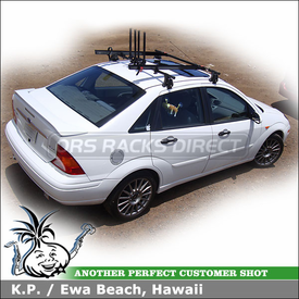 2004 Ford Focus Roof Rack for Bikes with Yakima Q Tower System, SteelHead Bike Racks & Wheel Holders