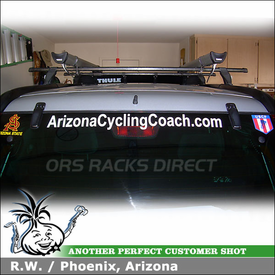 2004 Honda CRV Roof Rack Bike Racks System using Thule 430 Tracker II & TK8 Tracker Kit, 518 Echelon and 872XT Air Foil