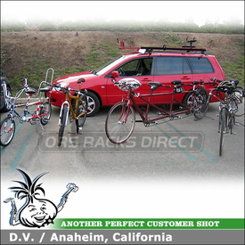 2004 Mitsubishi Lancer Sportback Roof Rack Bike Racks System using Yakima LowRider & Roof Bike Racks
