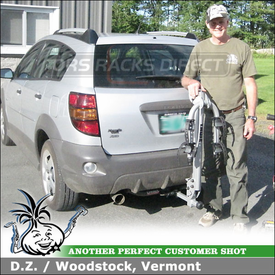 2004 Pontiac Vibe Hitch Bike Rack using Thule 970XT Helium 2 Bike Hitch Rack
