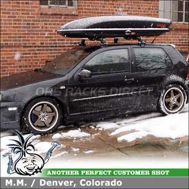 2004 Volkswagen Golf R32 Cargo Carrier for Factory Cross Bars Using Yakima SkyBox 12 Luggage Box