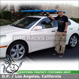 2005 Lexus ES330 Roof Rack and Locking Surfboards-Standup Paddleboards Carrier System