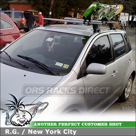 2005 Scion xA Snowboard Roof Rack System