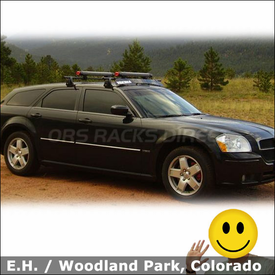2006 Dodge Magnum Roof Rack for Skis with Yakima Q Towers System, Fairing & Fat Cat 6 Ski Rack