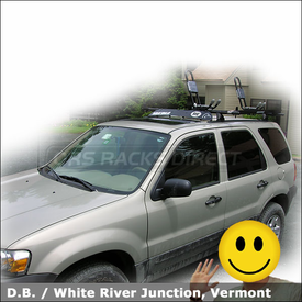 2006 Ford Escape Bike, Canoe & Kayak Roof Rack with Yakima Control Towers System, HullRaiser, Gunwale Brackets & Copperhead