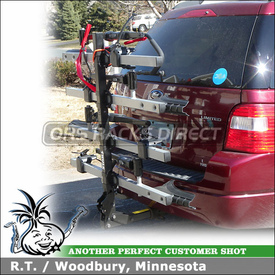 2006 Ford Freestyle 4 Bike Hitch Rack with Thule 916XTR T2 and 918XTR T2 Add-On