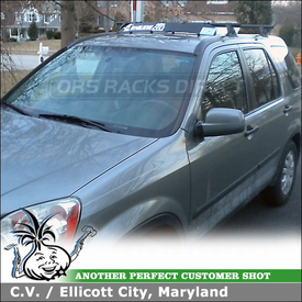 "2006 Honda CR-V Roof Rack Wind Fairing System using Yakima Control Towers #8 (LP8) Landing Pads & 38"" Noise Deflector"