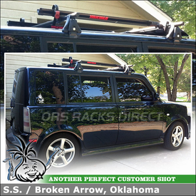 2006 Scion xB with Car Rack and Fork Style Bike Holders - Yakima Q Towers, 121 Q Clips, Viper
