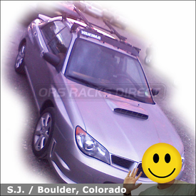 2006 Subaru Impreza WRX Roof Rack for Bikes with Yakima Q Towers System, Fairing & SteelHead Bike Racks