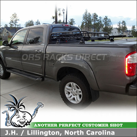 "2006 Toyota Tundra Tonneau Cover Rack Basket & Bike Racks using Yakima 60"" Tracks, Control Towers, LoadWarrior & SteelHead"