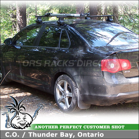 2006 VW Jetta TDI Roof Rack Bike Rack using Thule 480 Traverse System (w/ Thule 1393 Traverse Fit Kit) & Bicycle Carrier