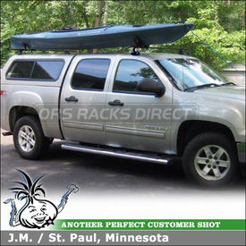 2007 GMC Sierra Truck Cab & Camper Shell Roof Rack using Thule 480 Traverse Half Pack, 1532 Fit Kit, 430 Tracker II & TK13 Kit