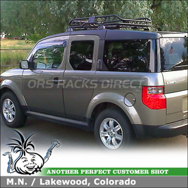 2007 Honda Element Roof Basket for Factory Rack using Malone Katahdin Gear Basket