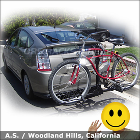 2007 Toyota Prius Hitch Bike Rack with SportRack A30901 2EZ Platform Rack