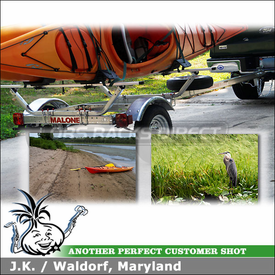 2008 Ford F-150 Kayak Trailer using Malone MPG461G Kayak Trailer Package with AutoLoader J-Cradles
