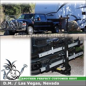 2008 Ford F450 Pickup Truck Front Hitch Bike Rack with Thule 916XTR T2