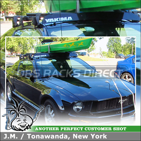 2008 Ford Mustang with Yakima Car Rack for Short Roofline