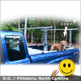 2008 Ford Ranger Truck Rack for Super Cab Version with Thule 422XT Xsporter