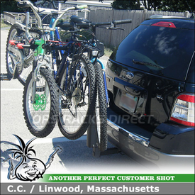 2008 Ford Taurus X Hitch Bike Rack for 5 Bicycles using Yakima DoubleDown 5 Bike Hitch Rack