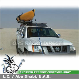 2008 Nissan XTerra Roof Rack Kayak Side-Loading Lift Assist using Thule 45058 CrossRoad & Thule 897XT Hullavator