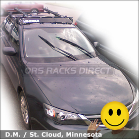 2008 Subaru Impreza Bike Rack with Yakima Q Tower Car Rack System, Faring & CopperHead Bicycle Carriers