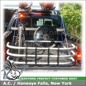 2008 Toyota Tacoma Truckbed Bike Rack using Thule 822XT Bed Rider Pickup Truck Bike Rack