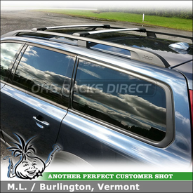 2008 Volvo XC70 Roof Rack for Factory Side Rails using Whispbar S54 Rail Bar