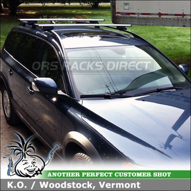 2008 Volvo XC70 Side Rails Mounted Roof Rack with Thule AeroBlade Cross Rails